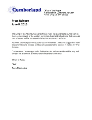 6-8-2015 Press Release Monastery